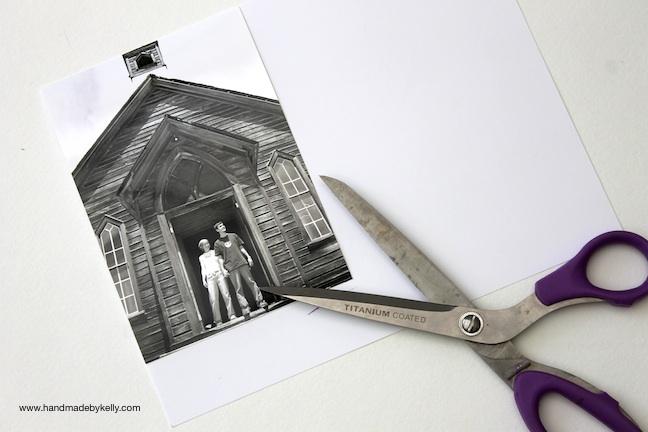 DIY embroidered photo art craft  www.handmadebykelly.com