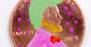 DIY Pop Art Pennies handmadebykelly.com colorful pennies, oil based sharpies, pop art, money craft