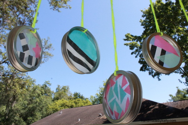 How to Make Tissue Paper Sun Catcher Craft; handmadebykelly.com