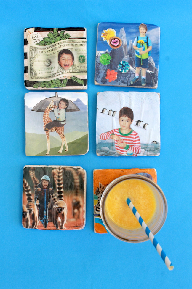 Diy Family Photo Display Click On Image To See More Home: DIY Family Photo Collage Coasters