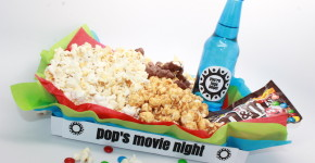 Father's day movie night; handmadebykelly.com; onlinelabels.com