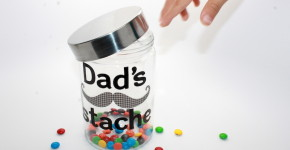 Father's Day Stache Jar - handmadebykelly.com