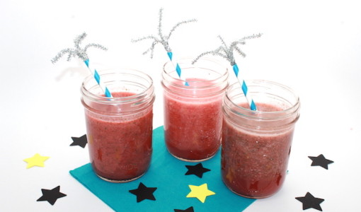 DIY Summer Kid-friendly Watermelon-Strawberry Mojito Smoothie; handmadebykelly.com; 4th of july
