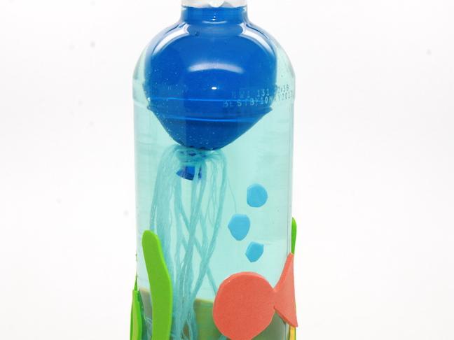 Jellyfish In Water Bottle Craft Handmade By Kelly