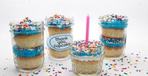 Cupcake in a Jar + Free Printable - handmadebykelly.com; onlinelabels.com