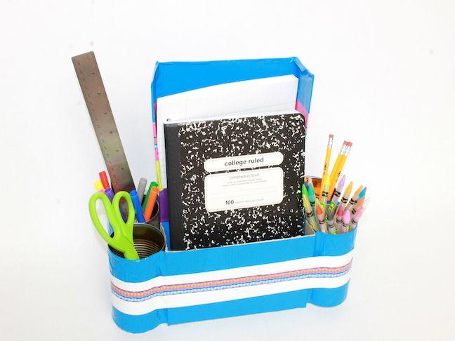 Back to School Homework Station: handmadebykelly.com