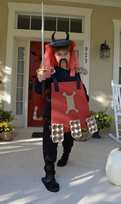 Samurai Warrior DIY Cardboard Halloween Costumes - handmadebykelly.com; scholastic.com