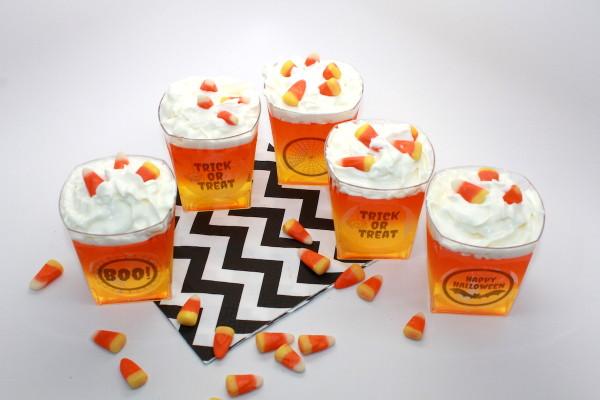Halloween Candy Corn Jello Treat Recipe + Free Printable; handmadebykelly.com; onlinelabels.com