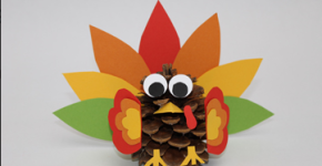 turkey pinecone thanksgiving craft; scholastic.com; handmadebykelly.com