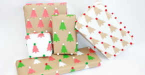 DIY Christmas Wrapping Paper ; handmadebykelly.com; onlinelabels.com