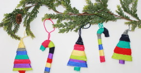 DIY Yarn Wrapped Christmas Ornaments - handmadebykelly.com; thestir.com