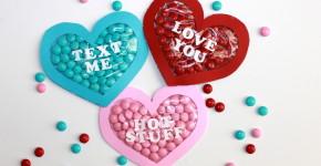 valentines day candy pocket craft; handmadebykelly.com; onlinelabels.com