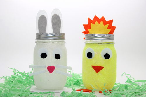easter mason jars thestir:handmadebykelly.com