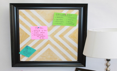 DIY Cork Board; handmadebykelly.com; forrent.com