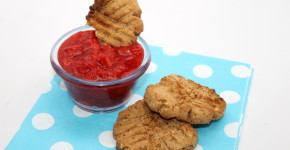 "Gluten Free Peanut Butter Cookie with Strawberry ""Jelly"" Dip; handmadebykelly.com"