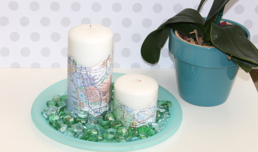 handmadebykelly.com; Earth Day map candle DIY
