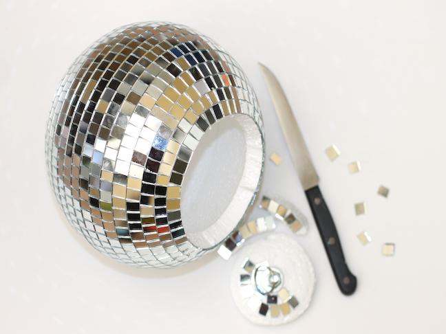 Disco Ball Planter Pot; handmadebykelly.com; momtastic.com