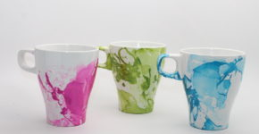 Handmadebykelly.com; forrent.com; diy marble nail polish mugs