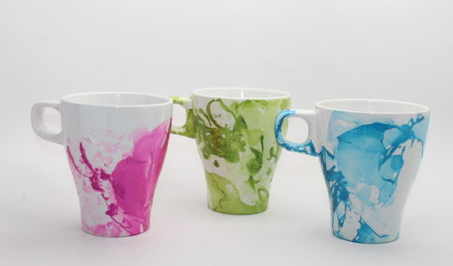 Handmadebykelly.com; forrent.com; diy marble nail polish mugs