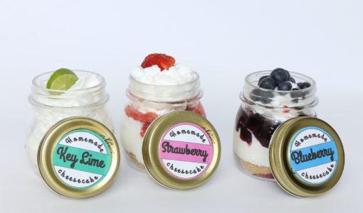 Cheesecake in a Jar Recipes + Recipes- handmadebykelly.com- onlinelabels.com