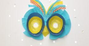 Owl Cupcake Liner Mask; momtastic.com handmadebykelly.com