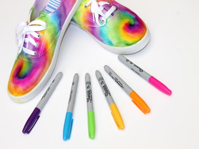 Tie Dye Sharpie Sneaker Project