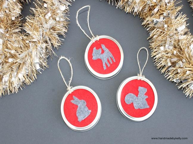 DIY Woodland Animal Silhouette Christmas Ornament Craft; www.handmadebykelly.com; kelly ladd sanchez