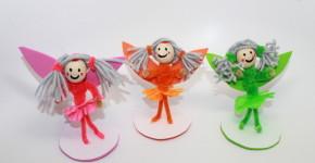 Pipe cleaner fairy craft; handmadebykelly.com