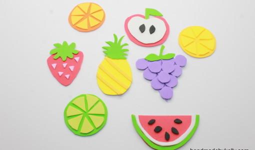How to make fruit magnet crafts - handmadebykelly.com