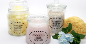 How to make homemade DIY body scrub gifts for Mother's Day; handmadebykelly.com