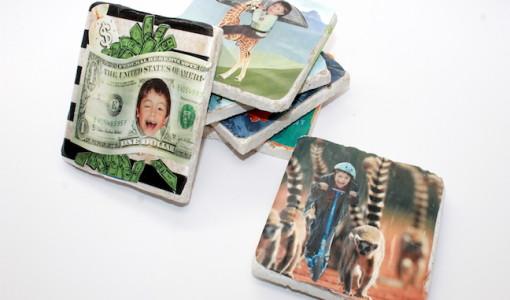 DIY Photo Collage Coaster; handmadebykelly.com; momtastic.com; kelly ladd sanchez