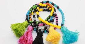 DIY BOHO Beaded Bracelet; handmadebykelly.com