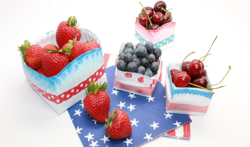How to Make Fourth of July Paper Plate Bowls; handmadebykelly.com