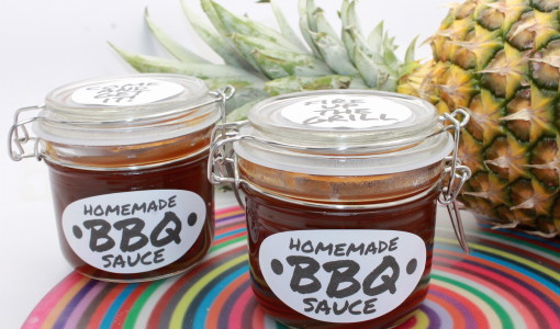 Hawaiian BBQ Sweet and Sour BBQ Sauce + Free Printables/Handmadebykelly.com and OnlineLabels.com