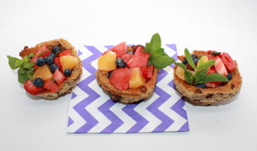 Gluten Free Cookie Bowl Fruit Cup; handmadebykelly.com