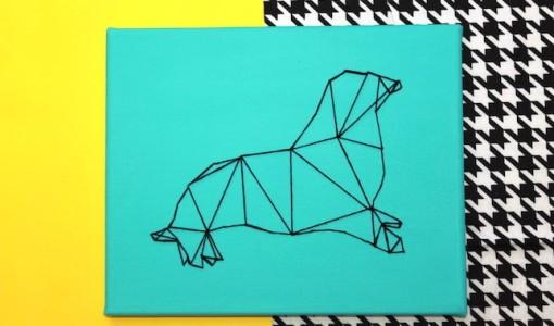 DIY Geometric Seal String Art; britco.com; handmadebykelly.com