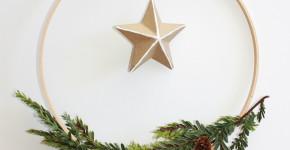 DIY Scandinavian Holiday Wreath Christmas; forrent.com; handmadebykelly.com