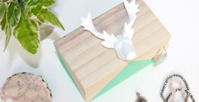 Geometric Animal Head DIY Jewelry Box - GIFT ON A BUDGET - thestir.com; handmadebykelly.com