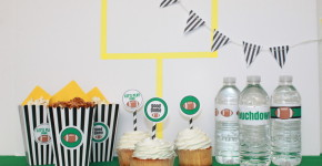 Super Bowl Party DIY; free printable; handmadebykelly.com; onlinelabels.com