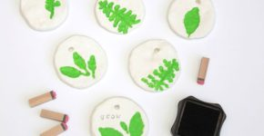 Leaf Pressed Clay Gift Tags; MNN.com; Handmadebykelly.com