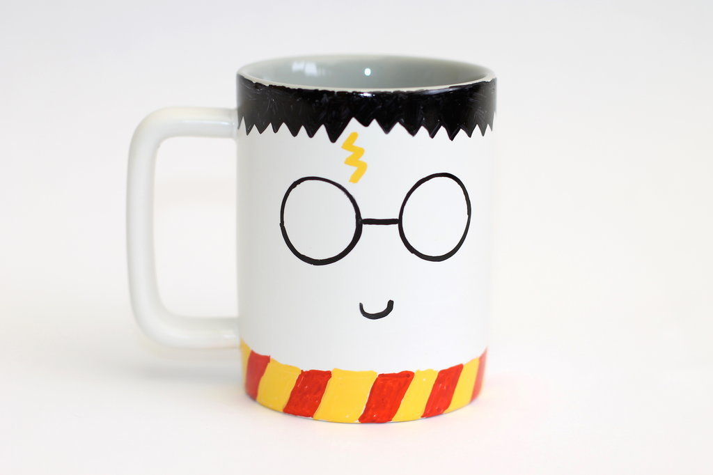 DIY Sharpie Harry Potter Mug; handmadebykelly.com; popsugar.com