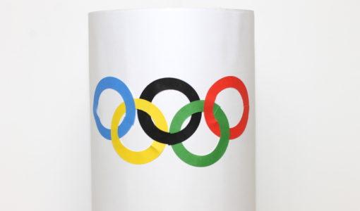 Olympic Wind Sock Craft handmadebykelly.com;onlinelabels.com