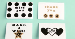 DIY Greeting Cards With Labels; onlinelabels.com; handmadebykelly.com