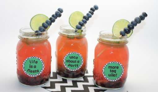 Blueberry Margaritas with free labels; onlinelabels.com; handmadebykelly.com